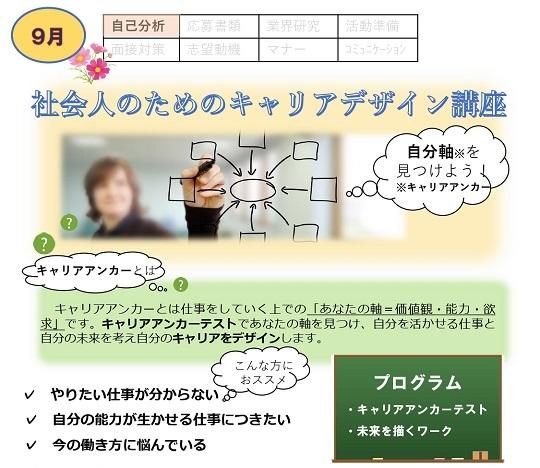 就職支援セミナー(社会人のためのコミュニケーション術)9/24