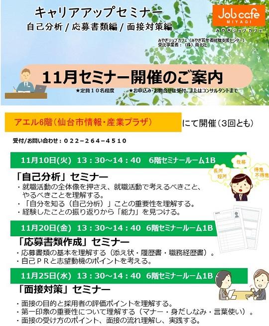 キャリアアップセミナー(面接対策)11/25